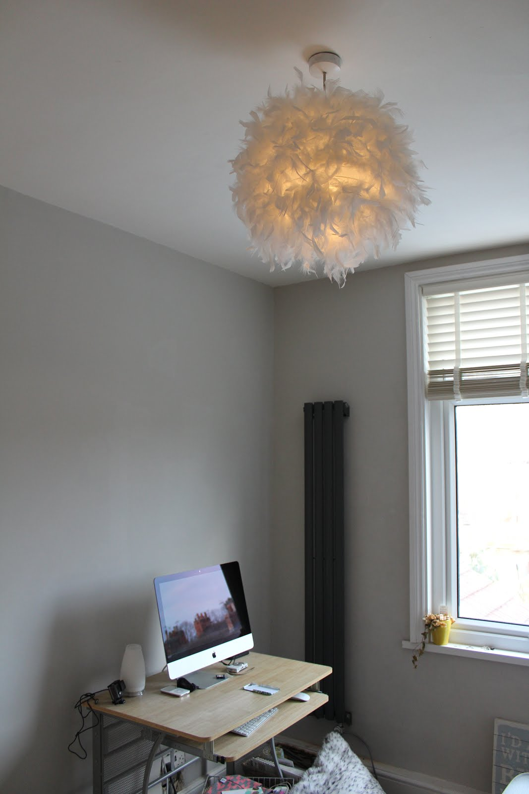 Feather Pendant in Office