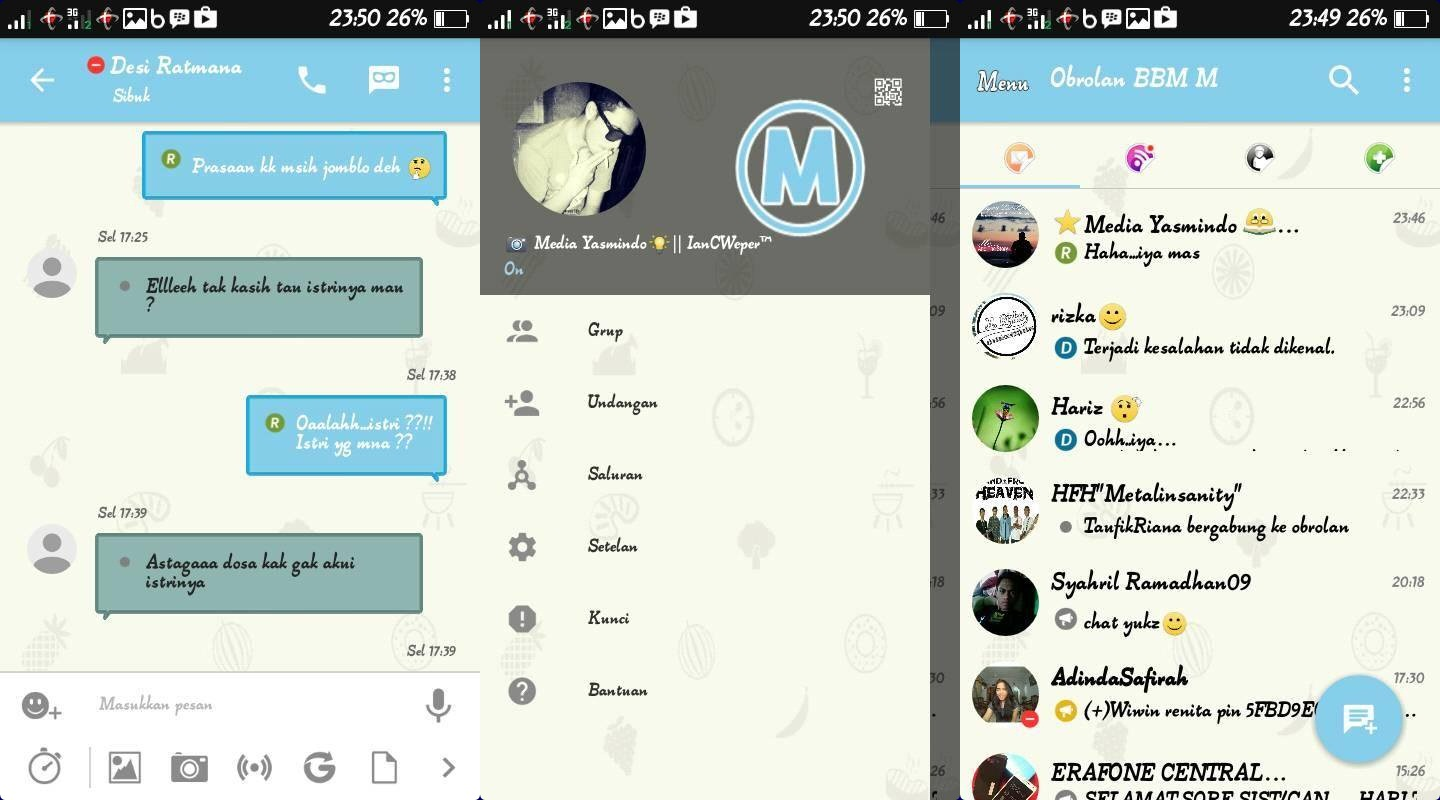 Kumpulan BBM MOD Terbaru 3206 New APK Update Latest Version