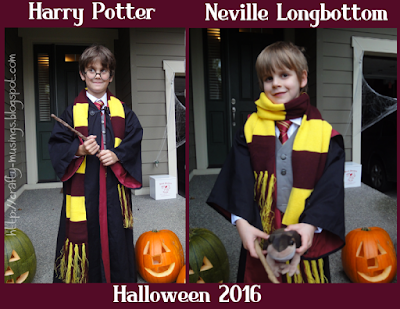 Harry Potter and Neville Longbottom, Halloween 2016