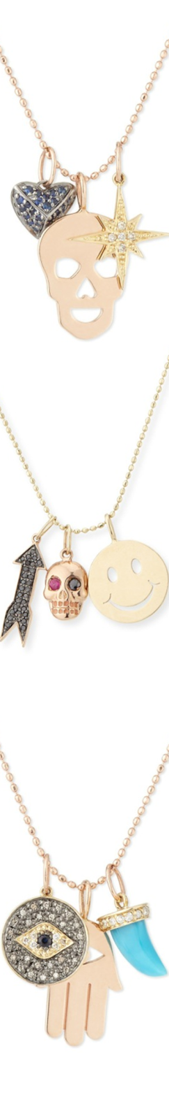 Sydney Evan Trio Charm Necklaces