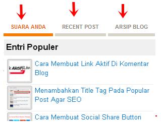 Widget multi 3 tab collum blogger