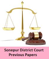 Sonepur District Court Junior Clerk Previous Papers