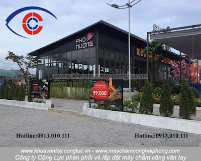 Phân phối và lắp đặt hệ thống máy chấm công vân tay Ronald Jack X628 Plus tại nhà hàng Phố Nướng - Hòn Gai - Hạ Long - Quảng Ninh.