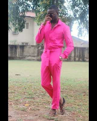 BBNaija's Leo steps out rocking all pink look