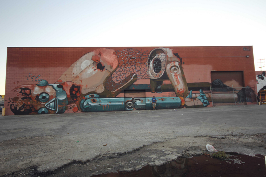 Pixel Pancho New Mural In Los Angeles Streetartnews