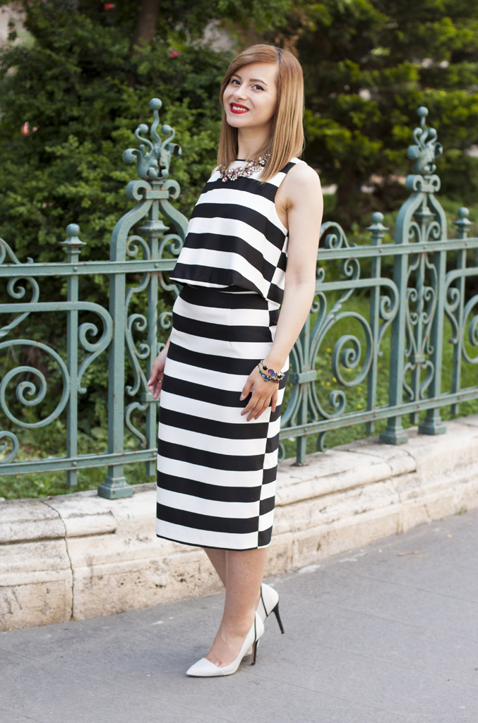 vision on fashion the stripped dress