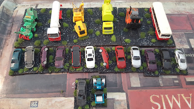 Based and grassed a job lot of 21 N scale vehicles which i got from eBay