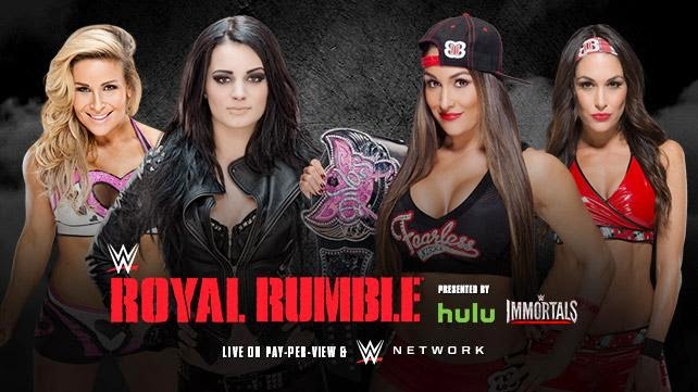 WWE - ROYAL RUMBLE 2015 - Paige & Natalya vs. The Bella Twins