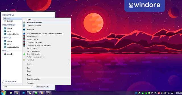 Menggunakan Netsh dengan CMD
