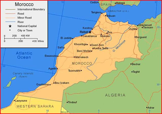 Gambar Peta Maroko