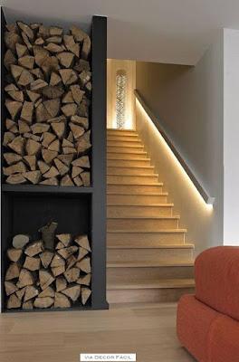 idéias para iluminar a escada