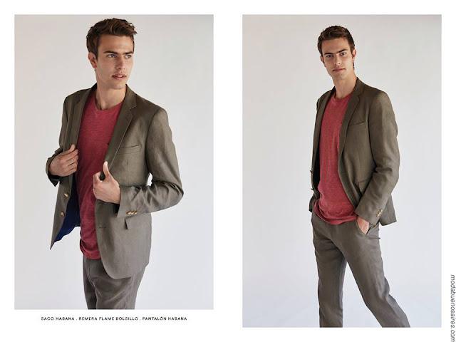 Sacos y pantalones de corte sastre. Moda hombre verano 2017. Ropa de hombre Bensimon primavera verano 2017. Moda 2017 hombre.