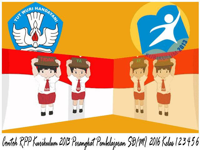 Download Contoh RPP Kurikulum 2013 Kelas 1 2 3 4 5 6 SD