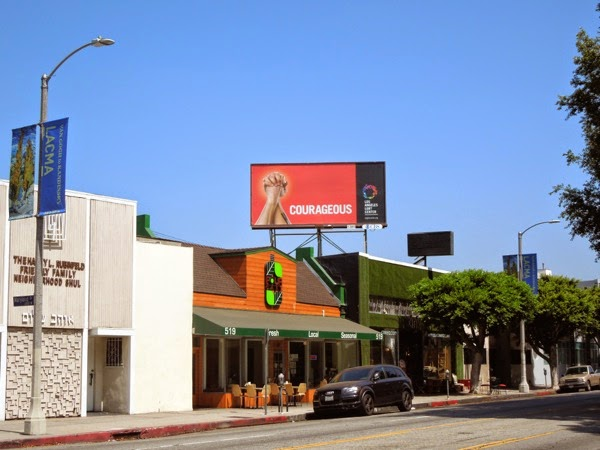 Courageous Los Angeles LGBT Center billboard