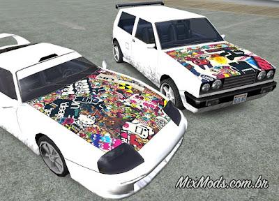 gta sa mod sticker bomb paintjob any car