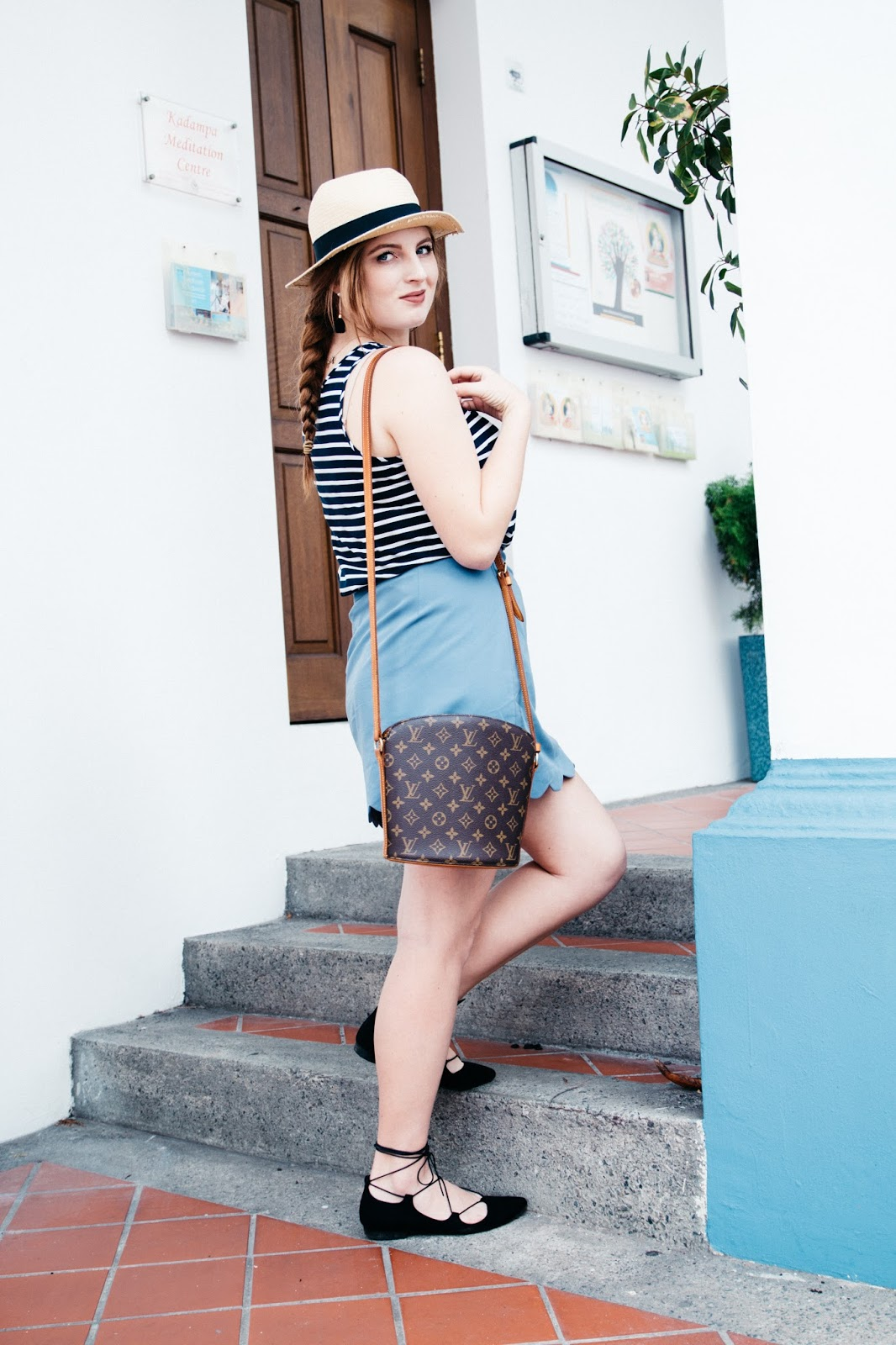 Blue Scallop Skirt | Global Fashion Gal