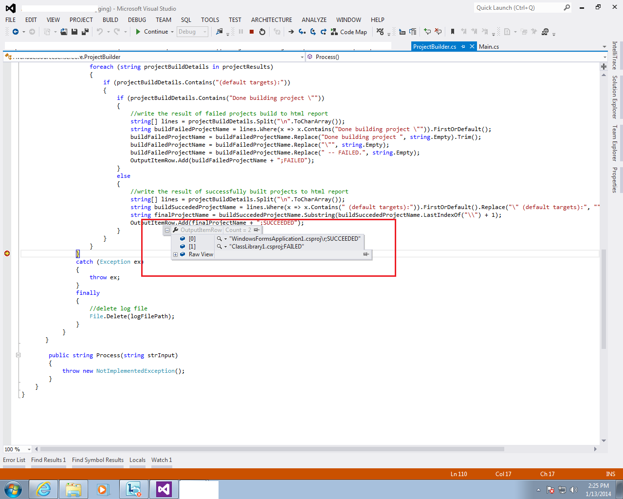 Sanganak Authority: How to build a solution using c# code in