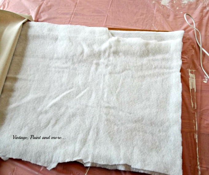 Vintage, Paint and more... decorating a bulletin board, using drop cloth fabric for crafts