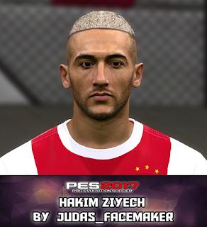 PES 2017 Faces Hakim Ziyech by Judas
