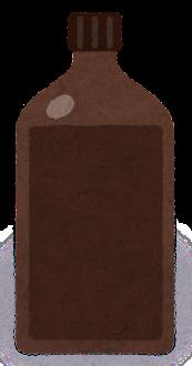 試薬瓶のイラスト2(茶色)