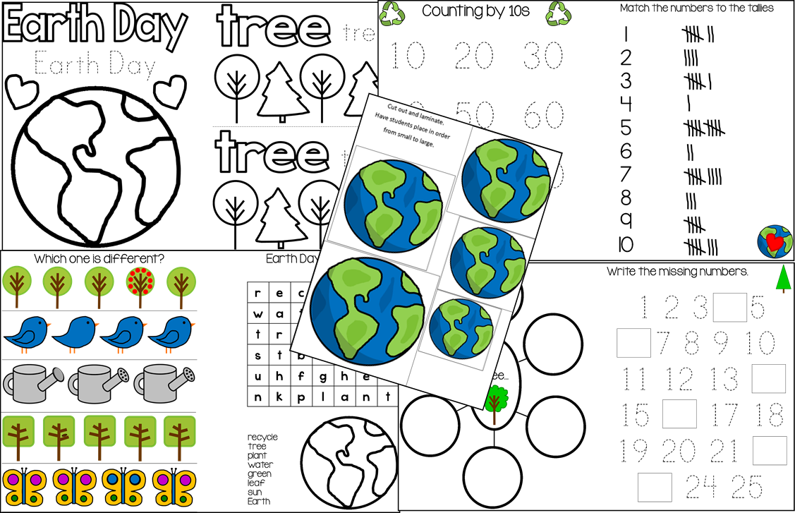 Earth Day Printable Unit for Pre-K and Kindergarten | The