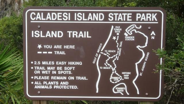 Wanderwege in Caladesi Island State Park, Florida USA
