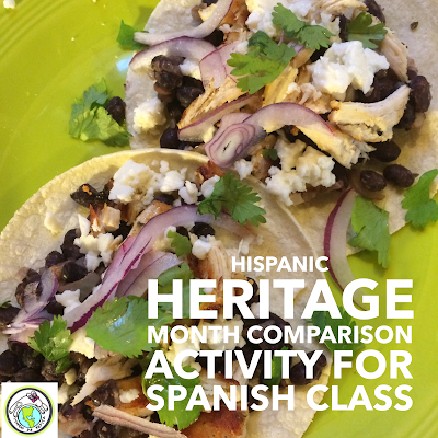 Hispanic Heritage Month Cultural Comparison Activity with a Taco