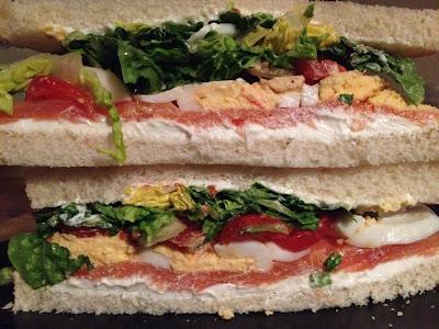 Sandwich de salmón - Salmón ahumado - Ahumados Domínguez - el gastrónomo - ÁlvaroGP - Álvaro García - Receta
