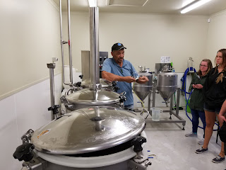 Test brewery at the New Zealand Hop Research Station in Riwaka.
