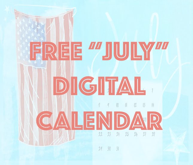 happy july free digital calendar