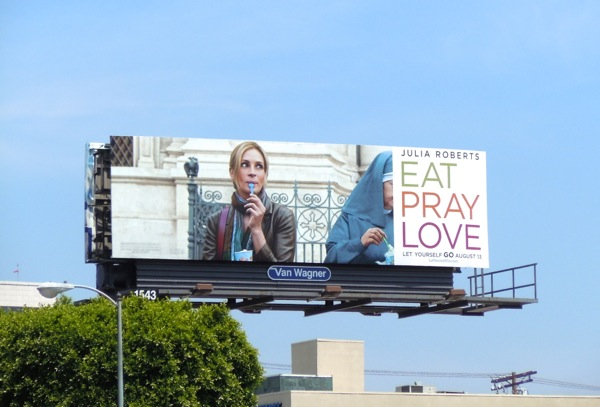 Julia Roberts Eat Pray Love ice-cream billboard