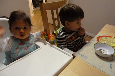 Mealtimes with a baby and a toddler