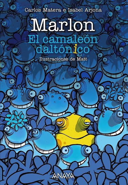 Portada del libro Marlón: El camaleón daltónico del grupo Anaya