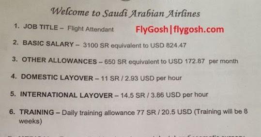 Fly Gosh: Saudi Arabian Airlines - Cabin Crew/Flight
