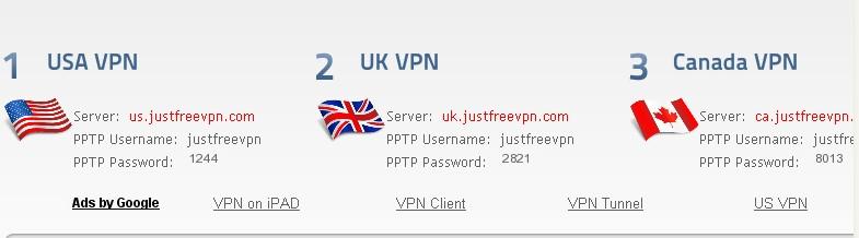 Just free vpn setup