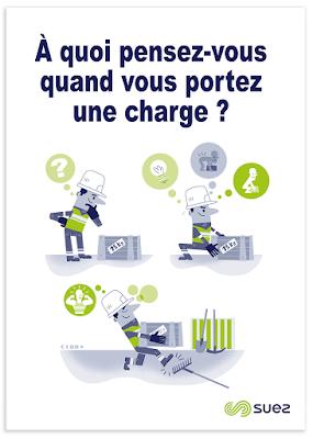 Clod illustration affiche sécurité Suez Eau France