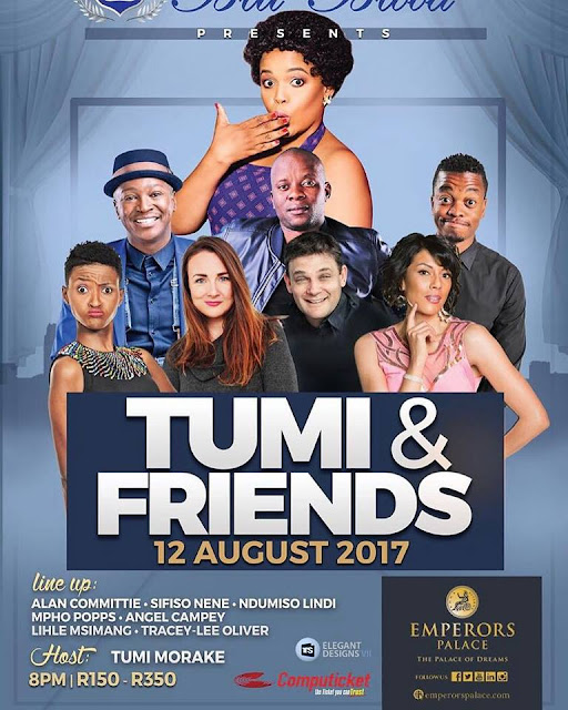 @Tumi_Morake Gathers Up Her Comedy Friends for A Night of Hilarious Proportions @BluBloodSA
