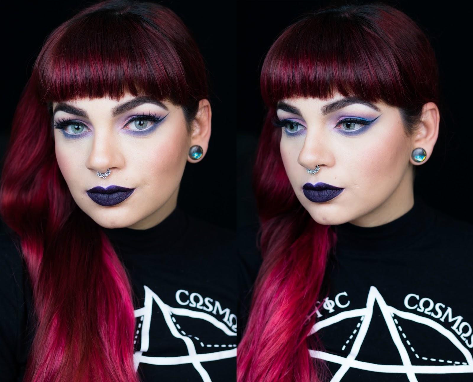 De Coturno Amp Spikes Maquiagem Do Dia Pastel Goth Makeup