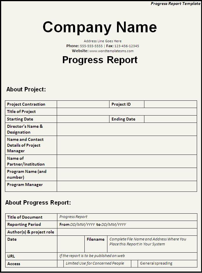 Excel Daily Progress Report Template  Download Free Office Templates