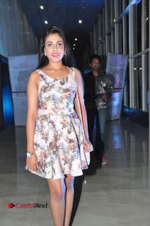 Actress Madhu Shalini Stills in Floral Short Dress at RGV Shiva to Vangaveeti Event  0073.JPG