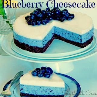 White Chocolate Blueberry Cheesecake