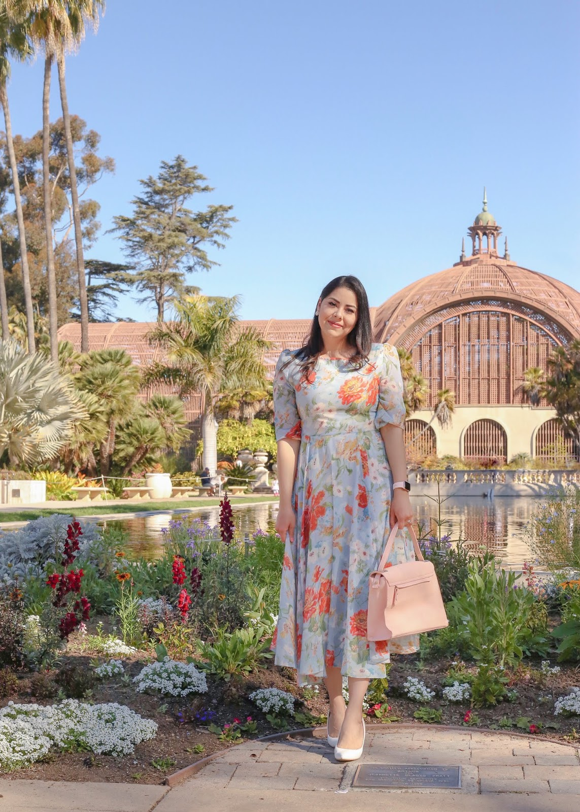 Spring floral midi dress, how to wear a midi floral dress
