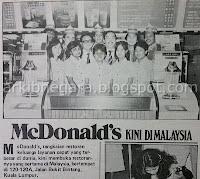 Restoran McDonald's pertama di Malaysia