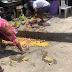 Nigerian Police Force destroyed food stuffs at Obalende market in Lagos