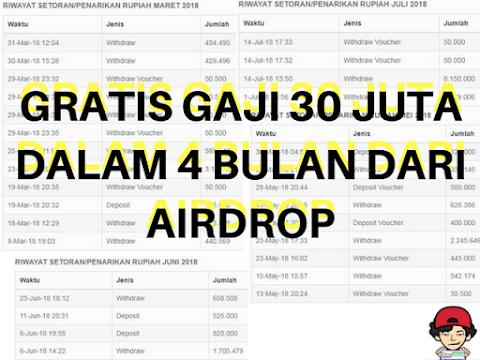 GRATIS GAJI 30 JUTA DALAM 4 BULAN DARI AIRDROP