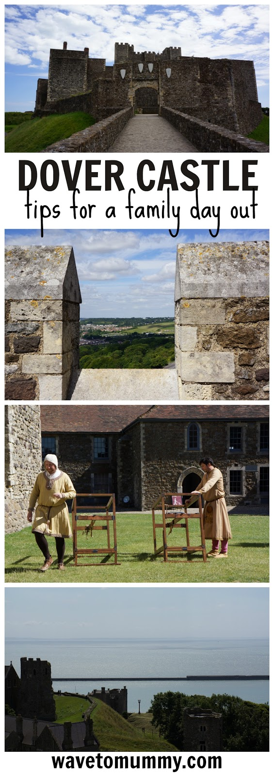 A family day out at Dover Castle - Dover Castle is a gorgeous location right on the coast and one of English Heritage sites. It is a great place to visit with family. This post includes a lot of pictures and tips for a perfect family day out. Click on the post to see more.