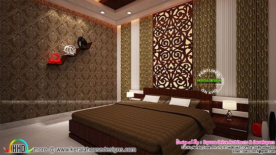 Kerala interior bedroom