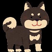 柴犬のイラスト(黒)