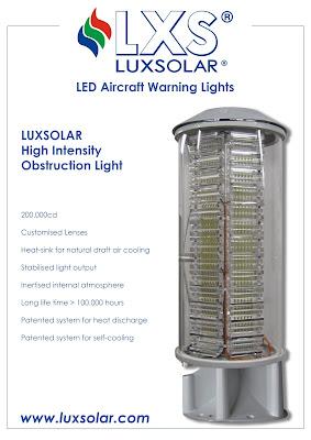 Luxsolar HIOL yüksek yoğunluklu uçak ikaz lambaları