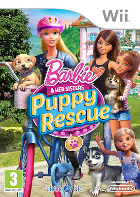 Barbie and Her Sisters Puppy Rescue 2015 WII NTSC Spanish